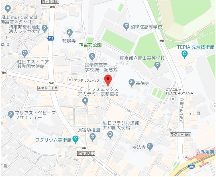 青山山荘 MAP