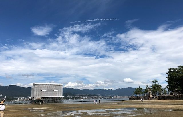 宮島 鳥居 改修中2019年9月